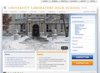 University of Illinois Laboratory High School screenshot