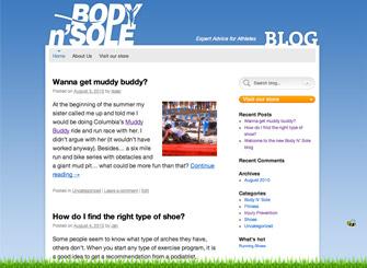 Body N' Sole Blog screenshot